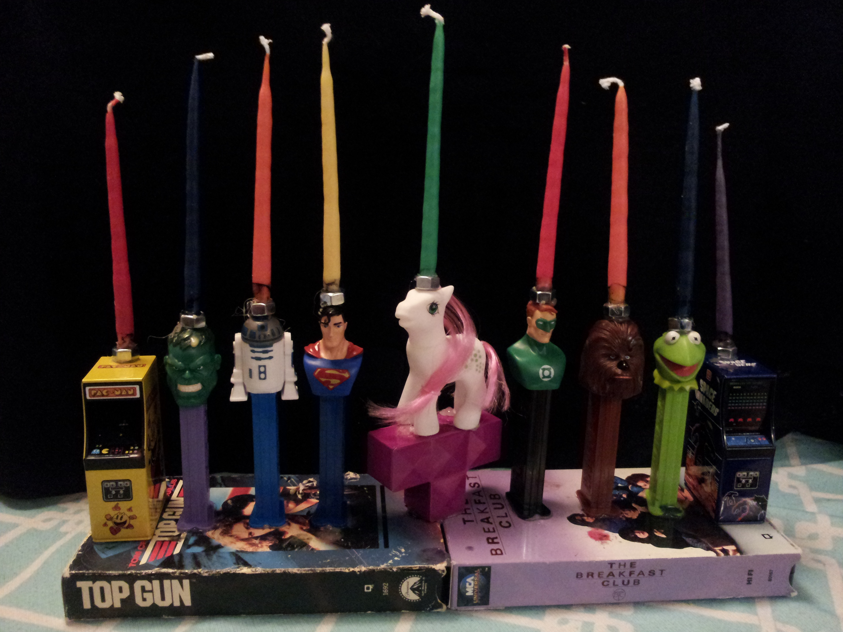 Craft Tutorial: Awesome 80s Menorah