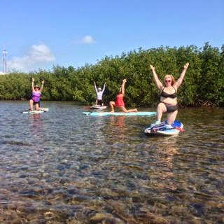 Florida Keys: Paddleboard Yoga as a Paddleboard Novice Fatty